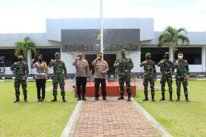 Danyon Infanteri 713 Lawdewick Disambut Hangat AKBP Prasetya Saat Kunker di Polres Kotamobagu