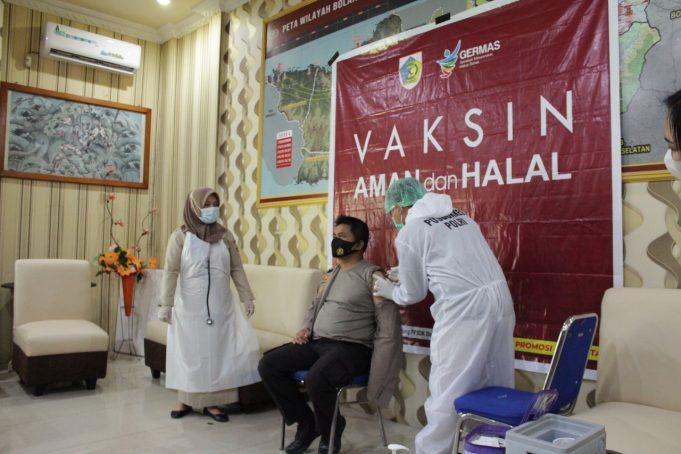 Disuntik Vaksin Covid-19, Kapolres Kotamobagu: Aman dan Tidak Ada Gejala