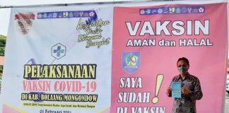 Yanny Jadi Orang Pertama di Bolmong Disuntik Vaksin Covid-19