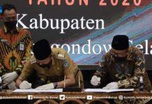 Iskandar Kamaru Bersama Ketua DPRD Bolsel Serahkan LKPD Tahun 2020 ke BPK RI