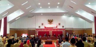 DPRD Bolsel Gelar Rapat Paripurna Mendengarkan Pidato Bupati dan Wabup Masa Jabatan 2021-2024