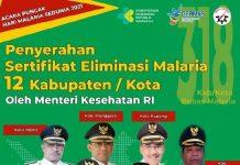 Kabupaten Bolmong Raih Sertifikat Eliminasi Malaria dari Kemenkes RI