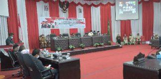 Wawali Bacakan LKPJ Pemkot Kotamobagu Tahun 2020 di Rapat Paripurna