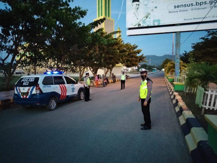 Satlantas Polres Buol Gelar BLP Subuh Selama Ramadhan