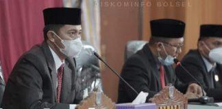 Iskandar Kamaru Hadiri Paripurna Ranwal RPJMD Kabupaten Bolsel Tahun 2021-2026