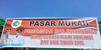 Disdagkop-UKM Gelar Pasar Murah di Kecamatan Kotamobagu Selatan