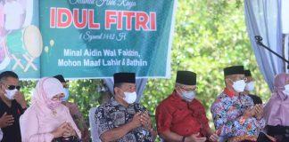 Bupati Bolmut Hadiri Halal Bihalal di Desa Bolangitang I