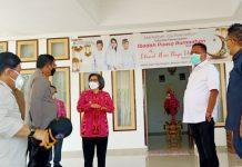 Bupati Bolmong Sambut Rombongan Gubernur Sulut Pantau Pos Terpadu Lebaran 2021