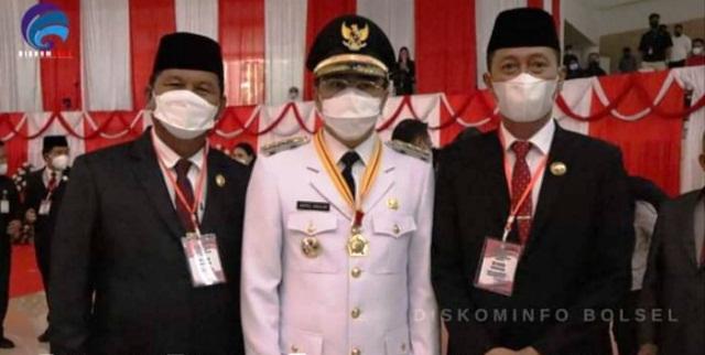 Iskandar-Deddy Hadiri Pelantikan Wali Kota dan Wakil Wali Kota Manado