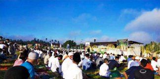 Patuhi Prokes Covid-19, Pelaksanaan Salat Idul Fitri di Stadion Nunuk Kelurahan Matali Berlangsung Khidmad