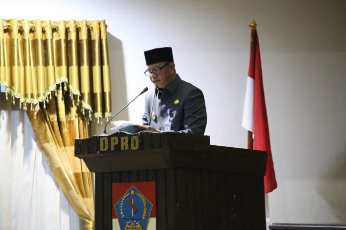 DPRD Boltim Gelar Rapat Paripurna Penetapan Perda Pertanggungjawaban APBD Tahun 2020