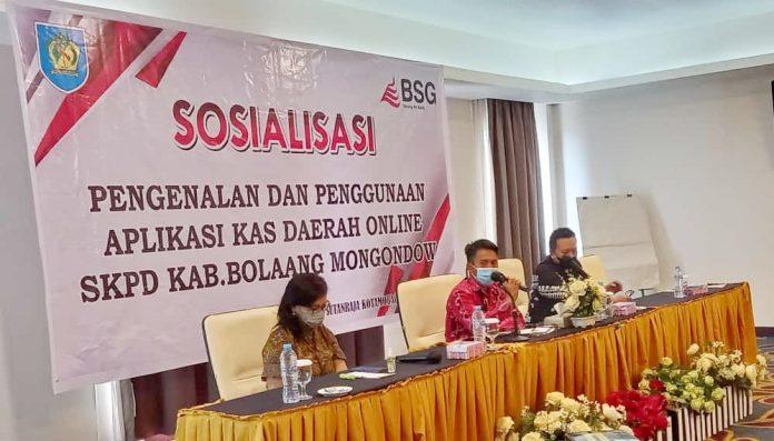 Sekda Bolmong Buka Sosialisasi Kasda Online OPD