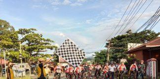Sambut HUT ke-75 Bhayangkara, Polres Bolsel Laksanakan Gowes Sehat