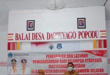 Disperindagkop dan UKM Bolsel, Gelar Pelatihan Pendidikan dan Kewirausahaan Kelompok Strategis Masyarakat Pedesaan