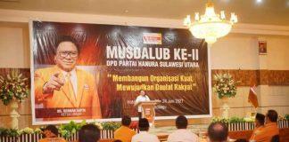 Nayodo Koerniawan Hadiri Musdalub ke-II Partai Hanura Sulut