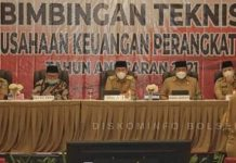 Iskandar-Deddy Buka Kegiatan Bimtek Penatausahaan Keuangan Perangkat Daerah