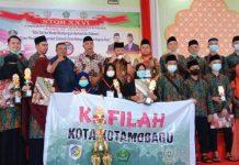 Kafilah Kota Kotamobagu Juara Umum Lomba STQ-H Tingkat Provinsi