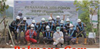 Melalui Even CSR, PT PP Proyek Bendungan Lolak Tanam 3.000 Pohon