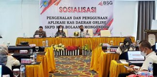 Pemkab Bolmong dan Bank SulutGo Sosialisasikan Kasda Online OPD