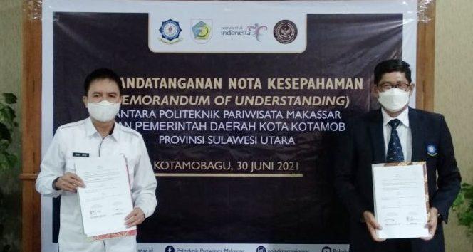 Pemkot Kotamobagu Tandatangani MoU Dengan Direktur Politeknik Pariwisata Makassar