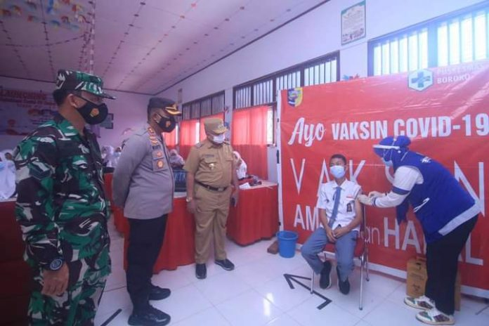 Pemkab Bolmut Launching Vaksinasi Covid-19 untuk Anak Usia 12 Sampai 17 Tahun