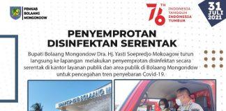di lingkup kantor, layanan publik dan ruang publik di lingkungan Pemkab Bolmong