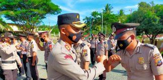 Hari Bhayangkara ke-75, 18 Personel Polres Buol Terima Kenaikan Pangkat