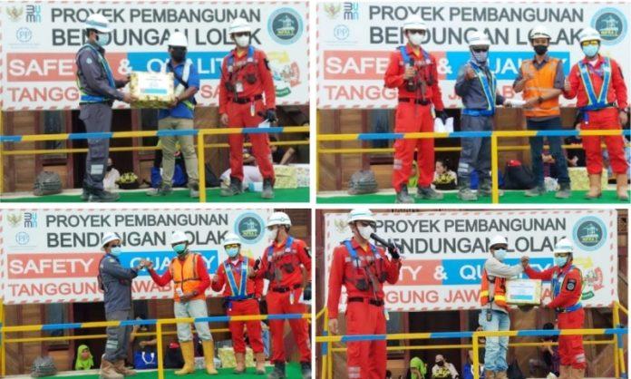 Penguatan K3, PT PP Bendungan Lolak Berikan Reward and Punishment kepada Karyawan