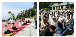 Terapkan Prokes Ketat, Wali Kota dan Wawali Salat Idul Adha di Dua Tempat Berbeda