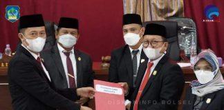 DPRD Bolsel Setujui Ranperda RPJMD Tahun 2021-2026 Menjadi Peraturan Daerah