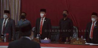 Iskandar-Deddy Hadiri Paripurna DPRD Bolsel Mendengarkan Pidato Kenegaraan Presiden RI