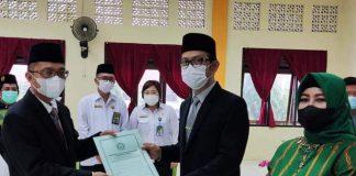 Kakanwil Sulut Lantik Shabri Makmur Bora sebagai Kepala Kemenag Bolmong