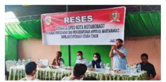 Anggota DPRD Kota Kotamobagu Dapil 1 Gelar Reses