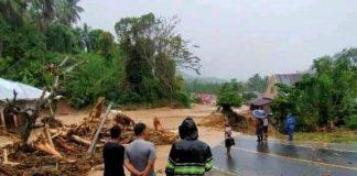 Diguyur Hujan Deras, Sejumlah Wilayah Kabupaten Bolmong Dilanda Banjir dan Longsor