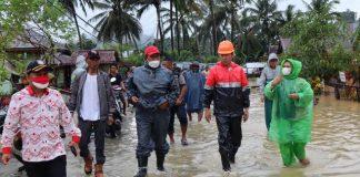 Bupati dan Wabup Bolsel Tinjau Lokasi Banjir di Kecamatan Pinolosian Tengah