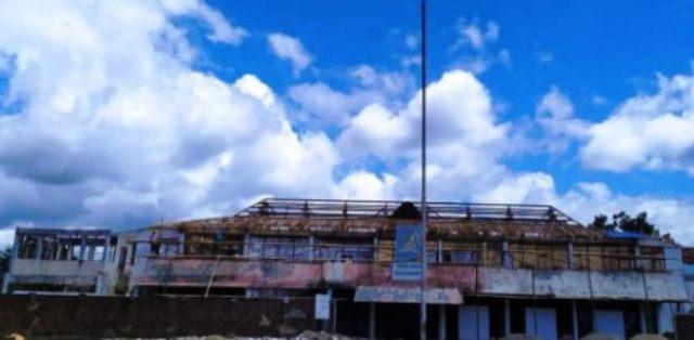 Fisik Pekerjaan Rehab Bangunan Utama Eks Kantor Bupati Bolmong Sudah 43 Persen