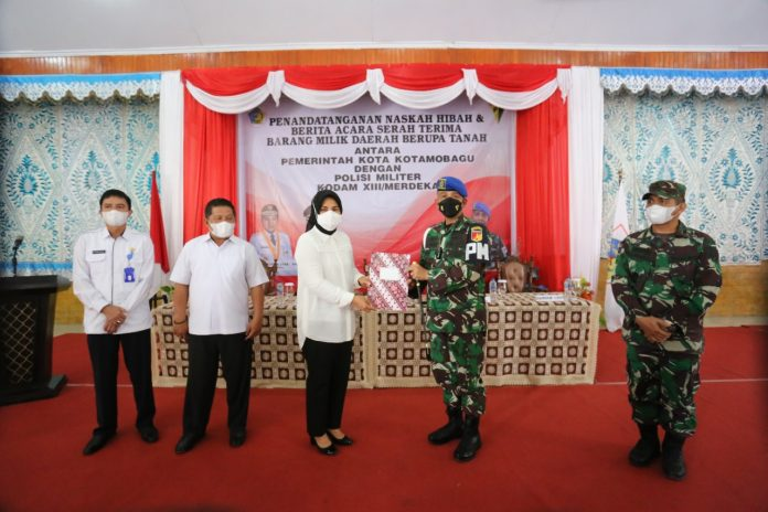 Pemkot Kotamobagu Hibahkan Tanah kepada Polisi Militer Kodam XIII/Merdeka