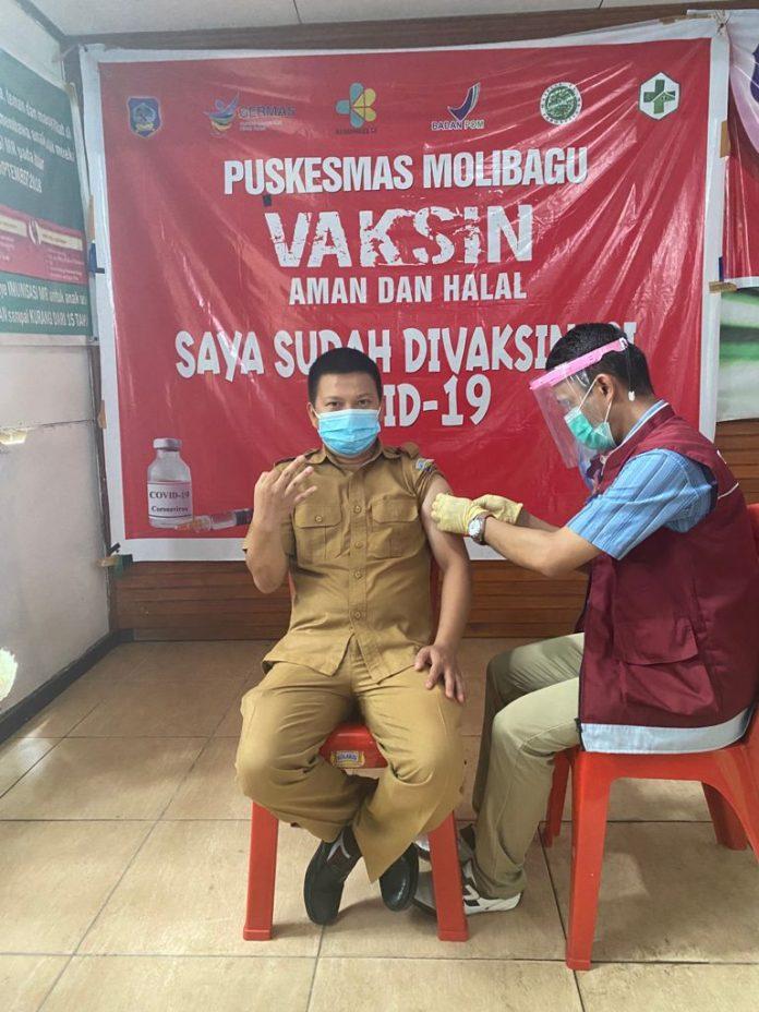 Nakes di Kabupaten Bolsel Sudah Terima Vaksin Moderna Tahap III