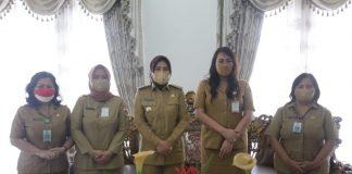 Wali Kota Tatong Bara Terima Kunker Kadis P3A Sulut