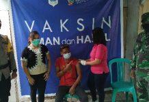 5 Hari Pelayanan, 626 Orang Jalani vaksinasi di posko perbatasan Boltim-Mitra