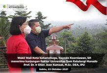 Rektor Unsrat Jalin Silaturahmi dengan Pemkot Kotamobagu
